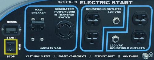 WH7500E control panel