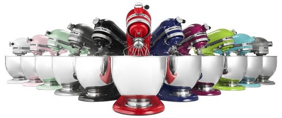 kitchenaid mixer colors